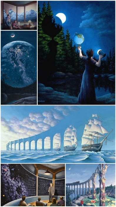 art by Rob Gonsalves (Canada)