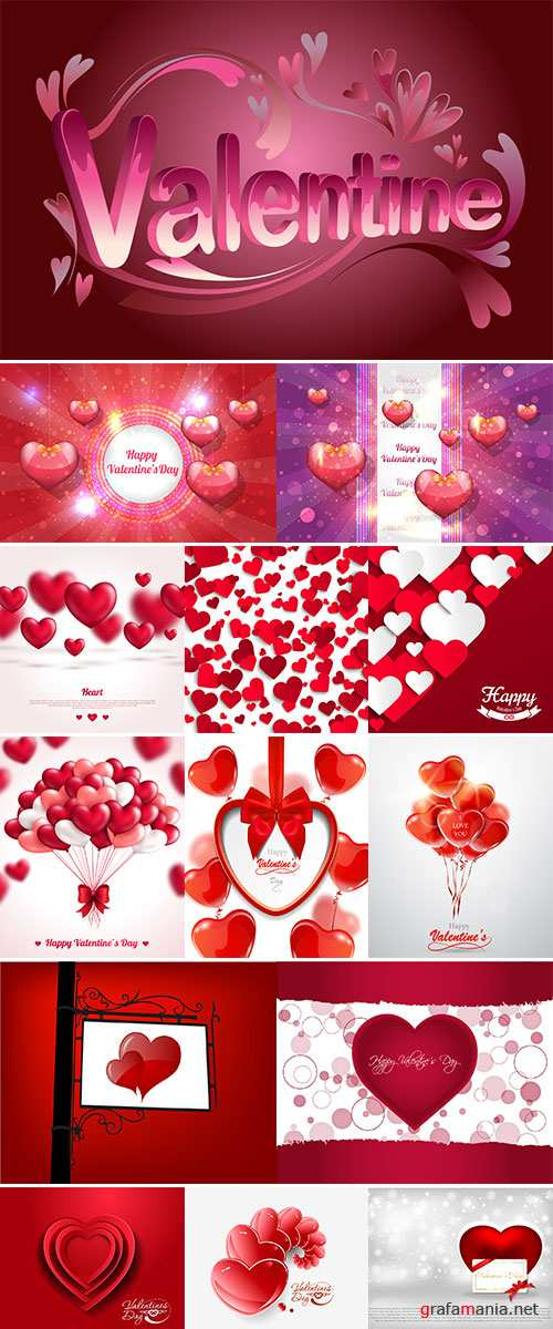 Stock Happy Valentine's Day greeting card, Valentine's day background vector