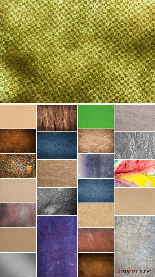 Paper, Stone, Denim fabrics, Old rusty, Wood texture, Concrete wall, metal texture background, 25xJPGs