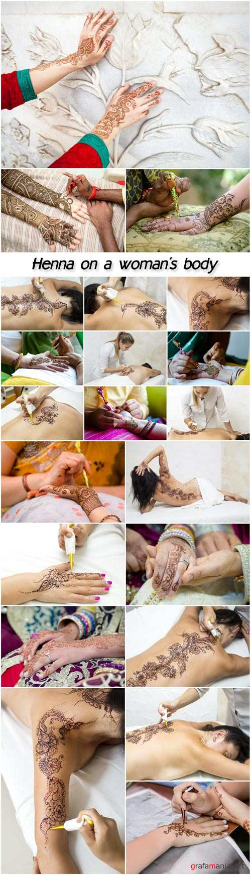 Henna on a woman's body