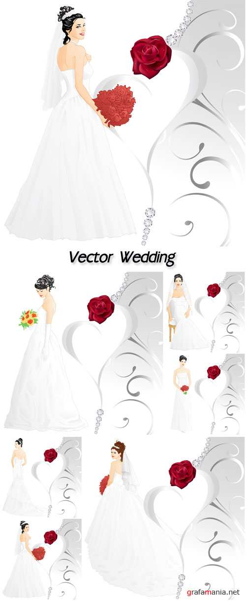 Vector wedding, bride