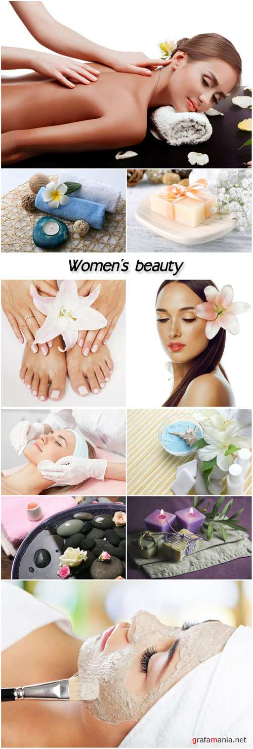 Spa background women in a beauty salon