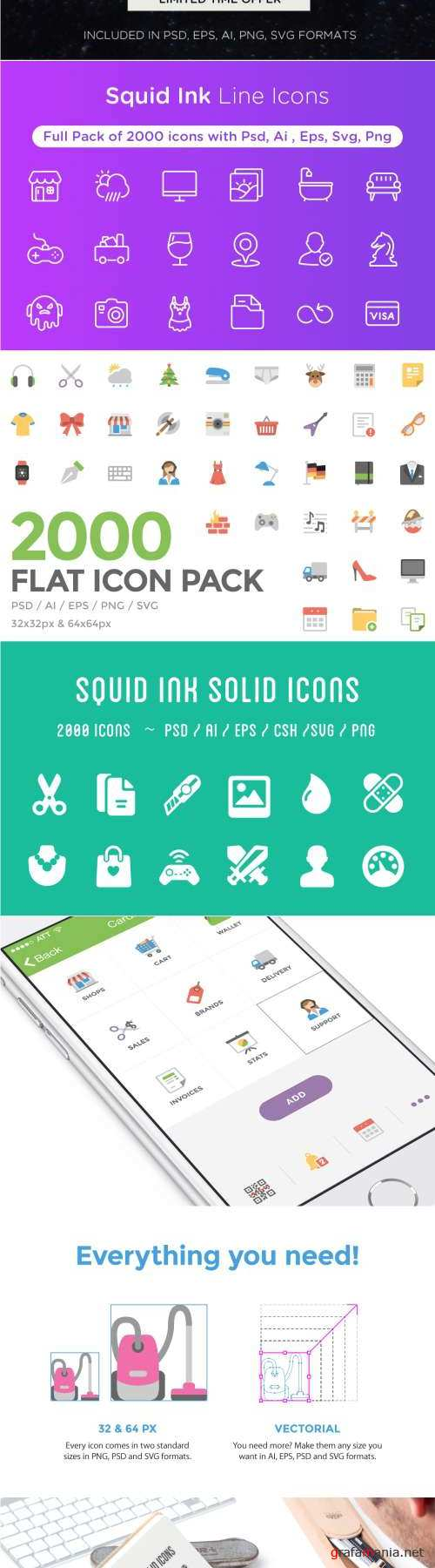 Awesome Icons Bundle | 6000 Icons 442434