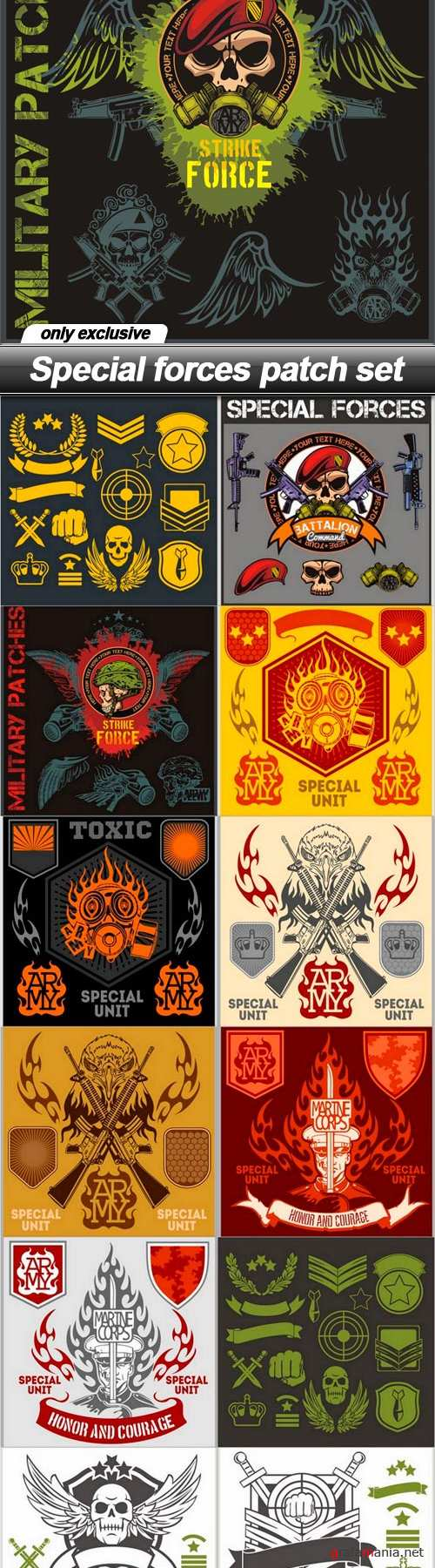 Special forces patch set - 13 EPS