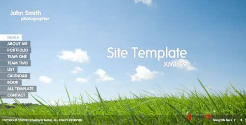 Flash Site Template XML v9 - Activeden 119171