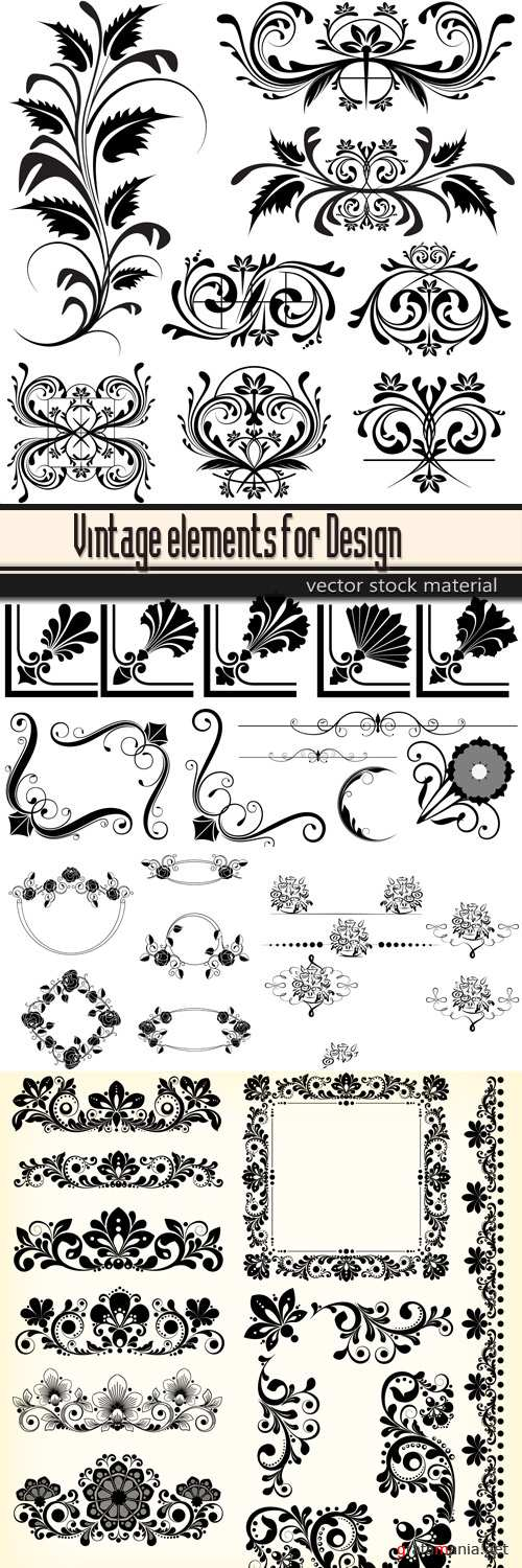 Vintage elements for Design