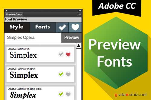 Preview Fonts CC Ps Ai - Creativemarket 25543