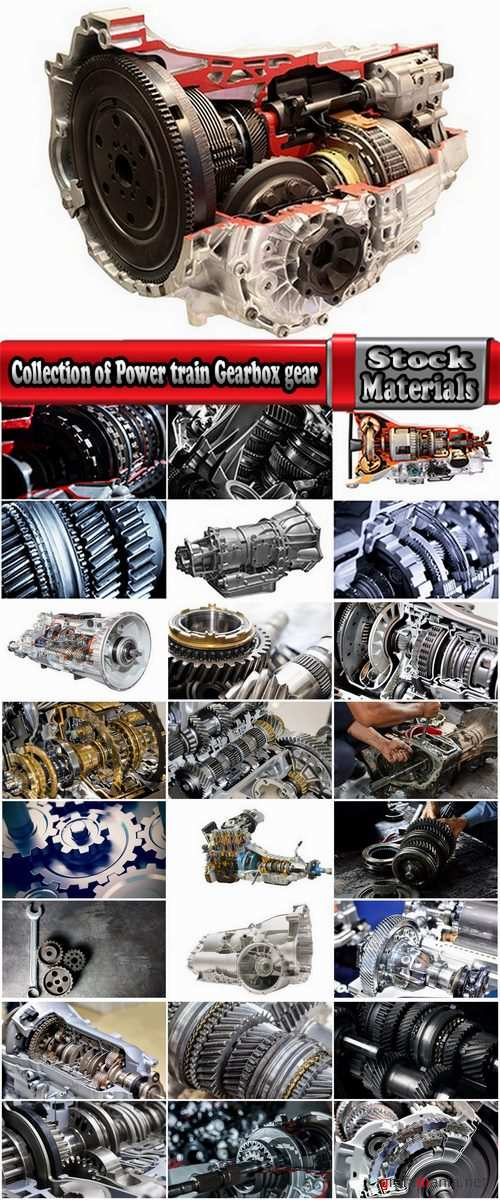 Collection of Power train Gearbox gear mechanism housing 25 HQ Jpeg