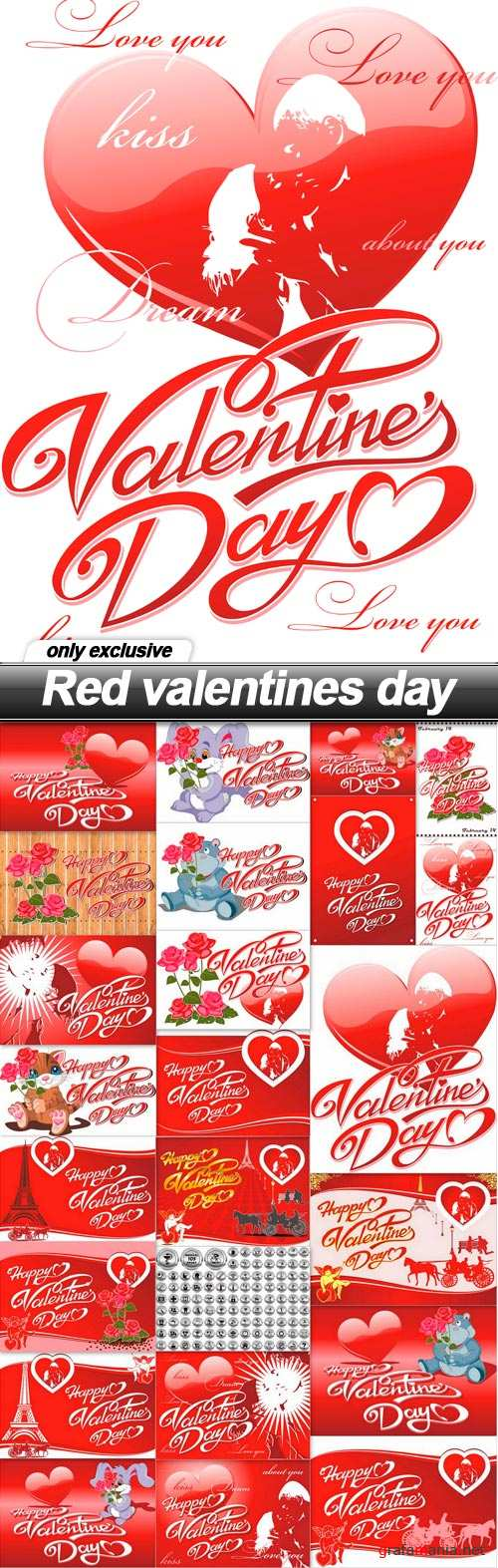 Red valentines day - 24 EPS