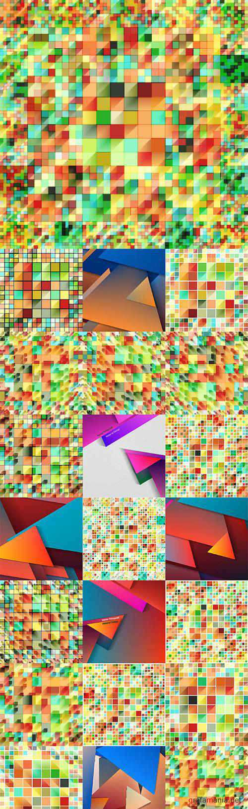 Abstract colorful geometry background 2