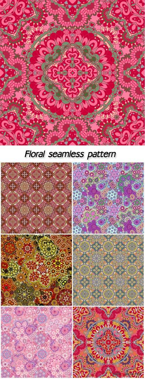 Luxury colorful floral seamless pattern background