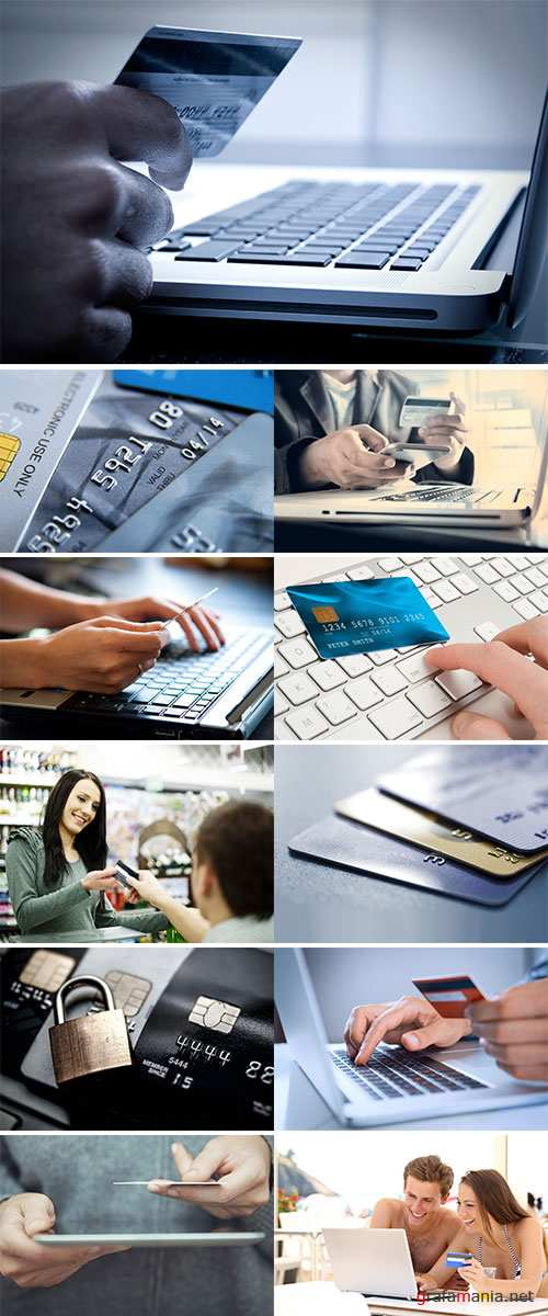 Stock Image Paying with credit card