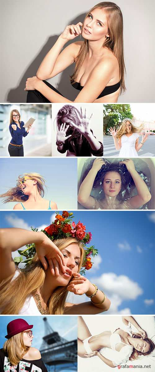 Stock Image Excited and amazed blonde woman