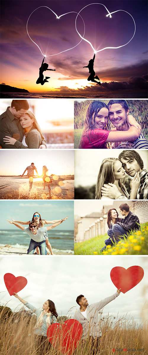 Stock Image Attractive young couple on the nature