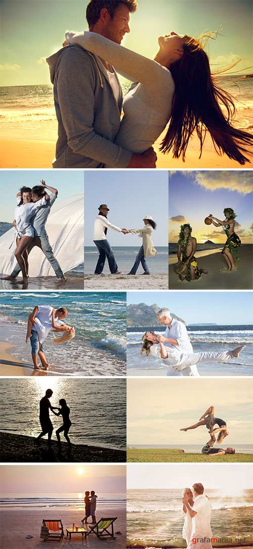 Stock Image Couple dancing on the beach