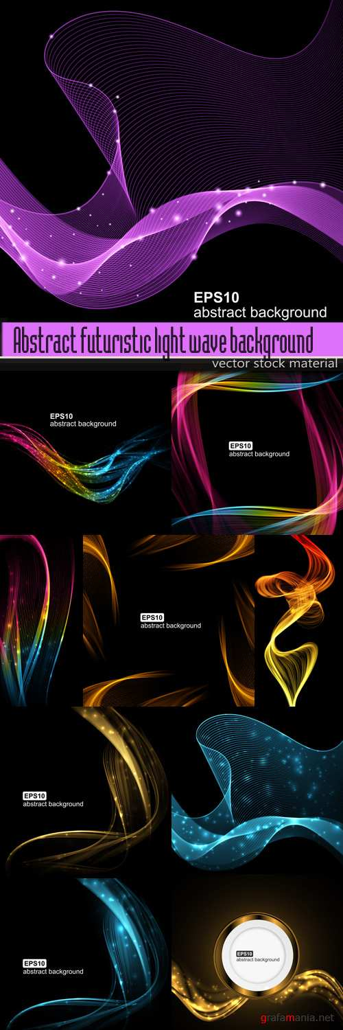 Abstract futuristic light wave background