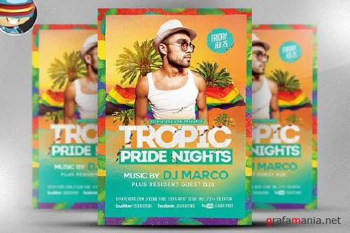 CM - Tropical Pride Nights Flyer Template 542727