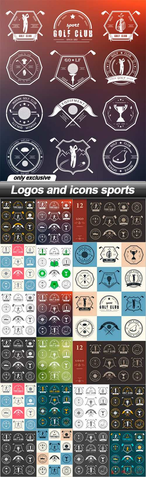 Logos and icons sports - 19 EPS