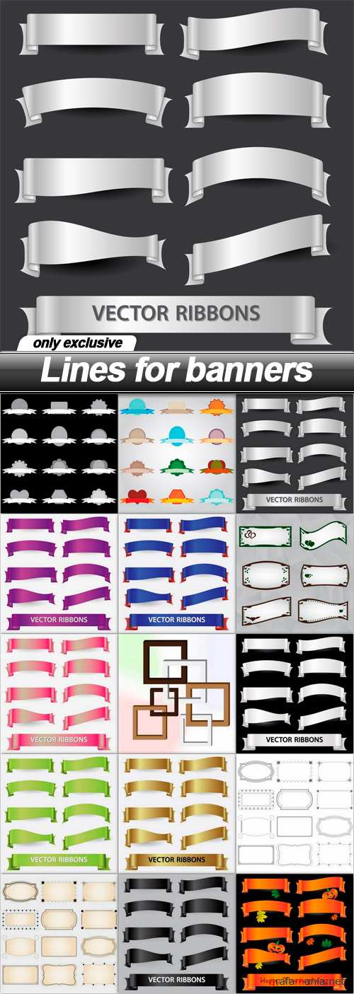 Lines for banners - 15 EPS