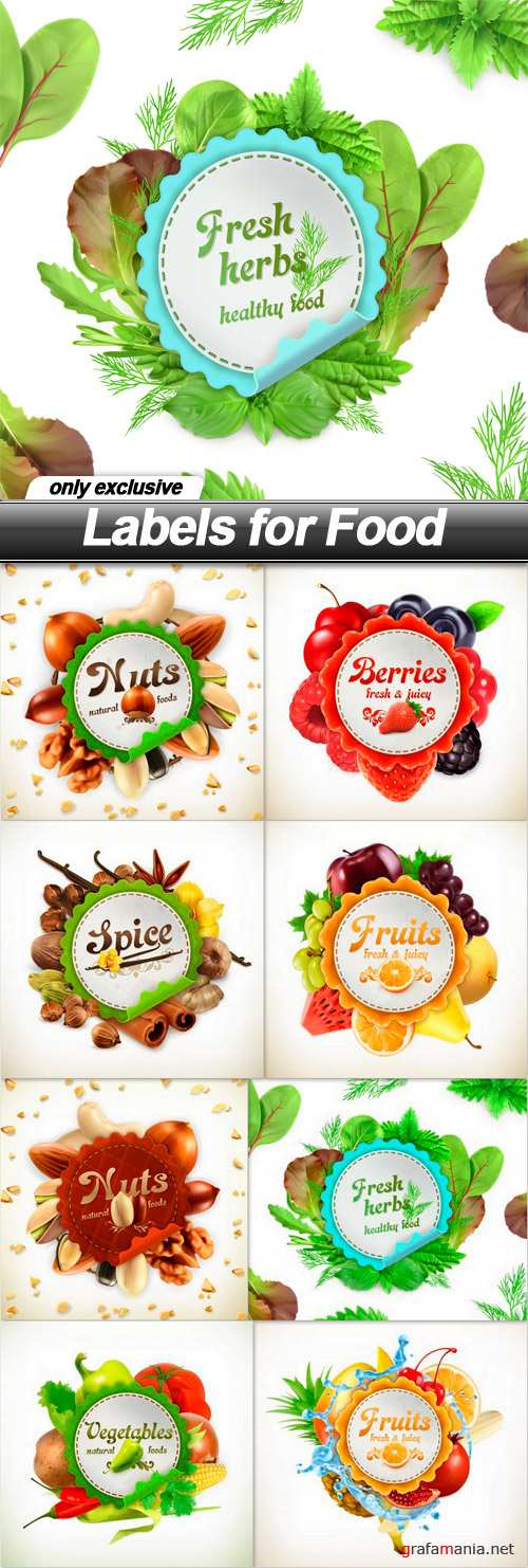 Labels for Food - 8 EPS