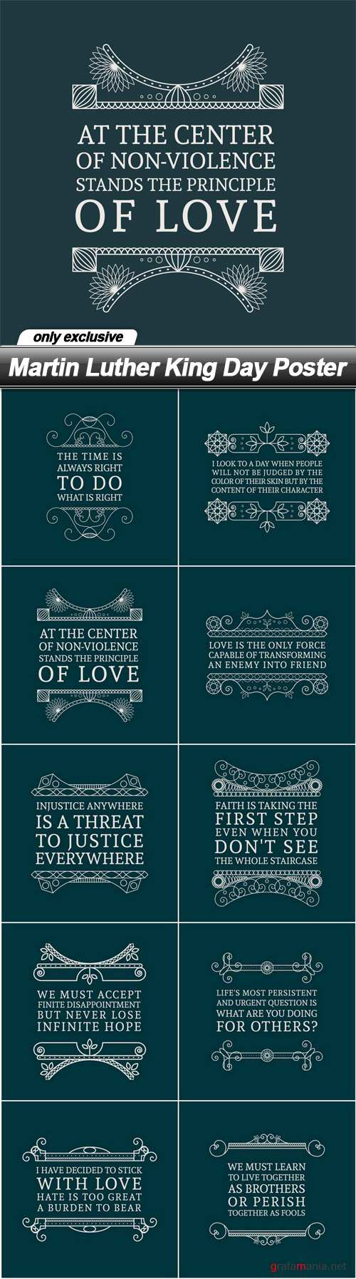 Martin Luther King Day Poster - 10 EPS