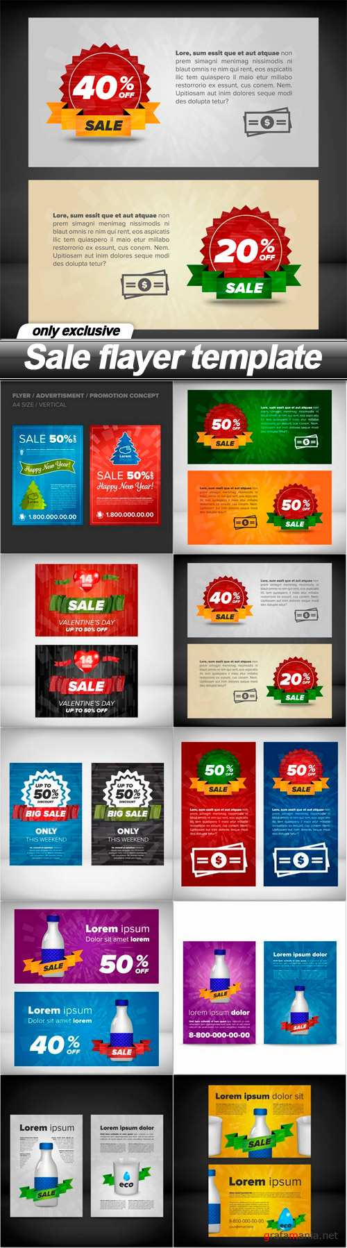 Sale flayer template - 10 EPS