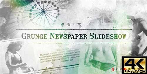 Grunge Newspaper Slideshow - After Effects Project (Videohive)