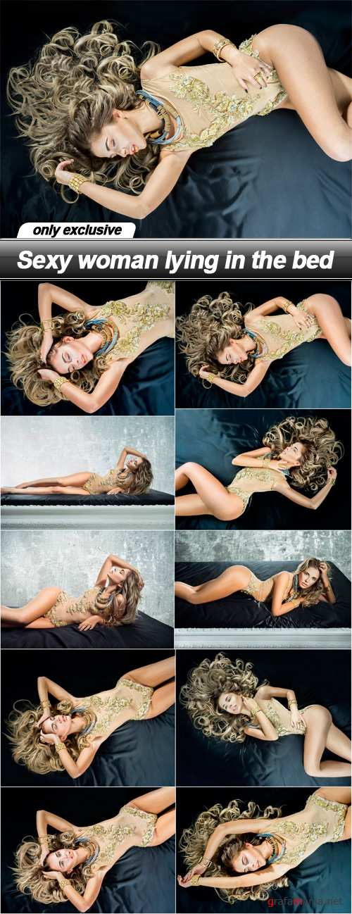 Sexy woman lying in the bed - 10 UHQ JPEG