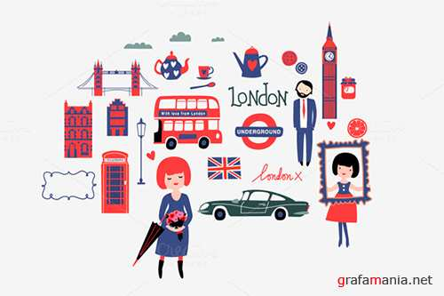 With love from London - Creativemarket 147262