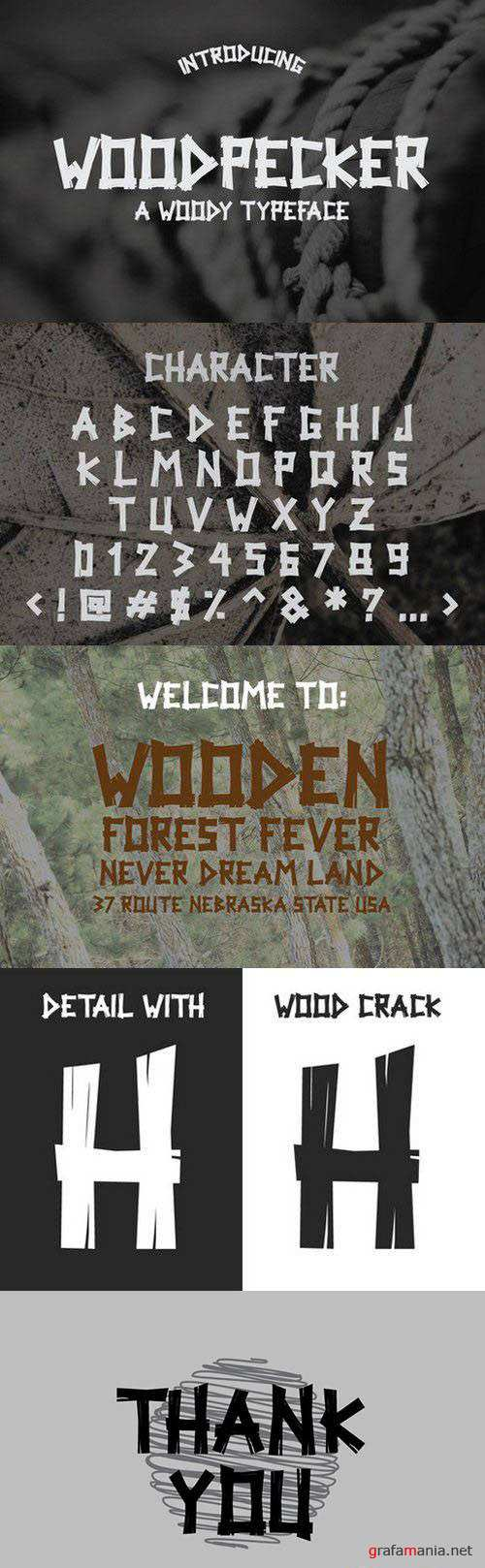 Font - Woodpecker Typeface