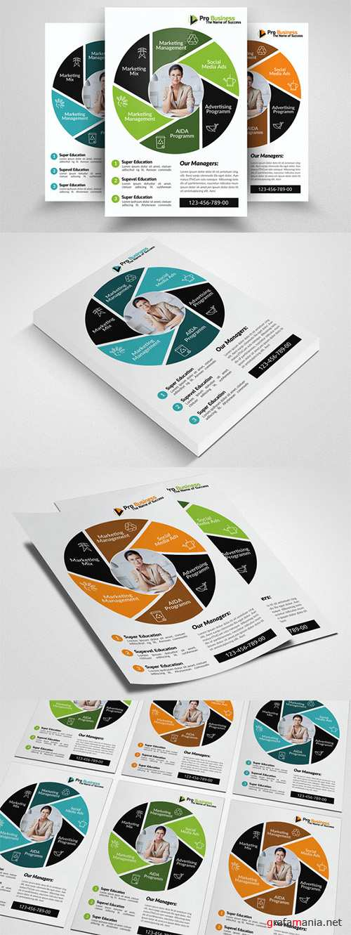Advertisment Company Flyer Template - Creativemarket 553035