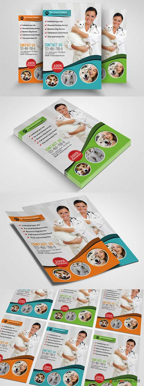 Pets Clinic & Care Centre Flyer - Creativemarket 552396