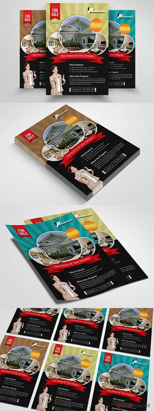 Real Estate Agency PSD Flyer - Creativemarket 552386