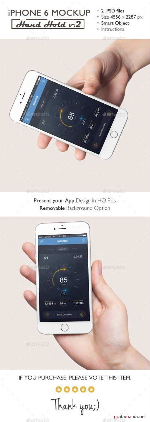 iPhone 6 Mockup Hand Hold v.2 14748215