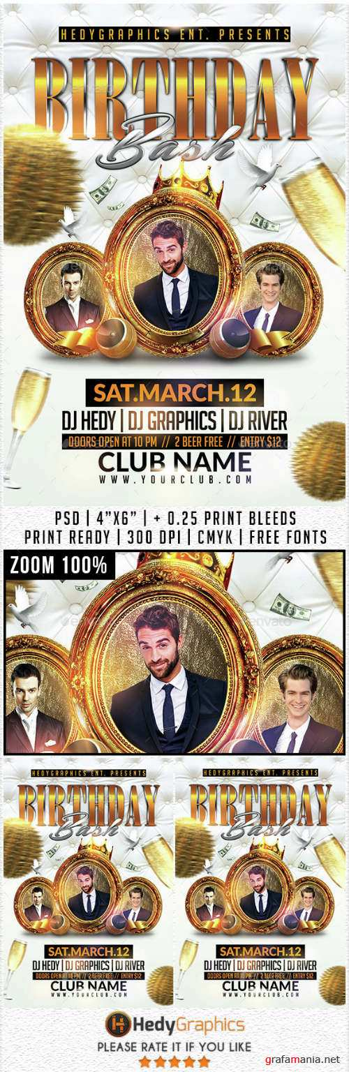 Birthday Bash - Flyer Template 14731362