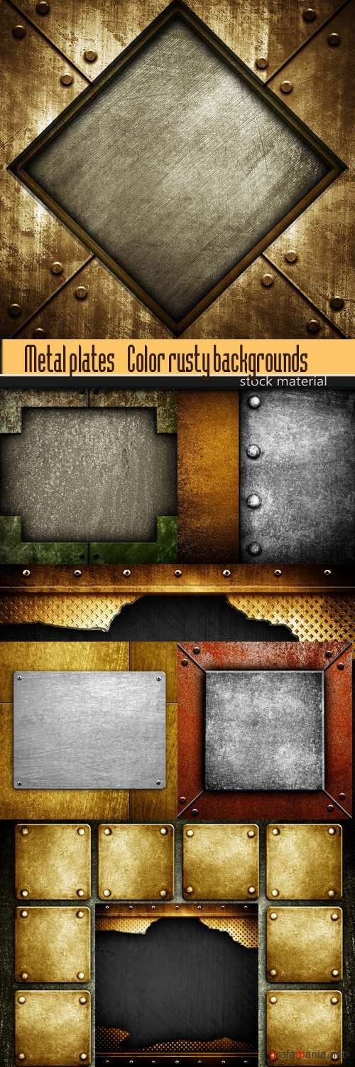 Metal plates - Color rusty backgrounds