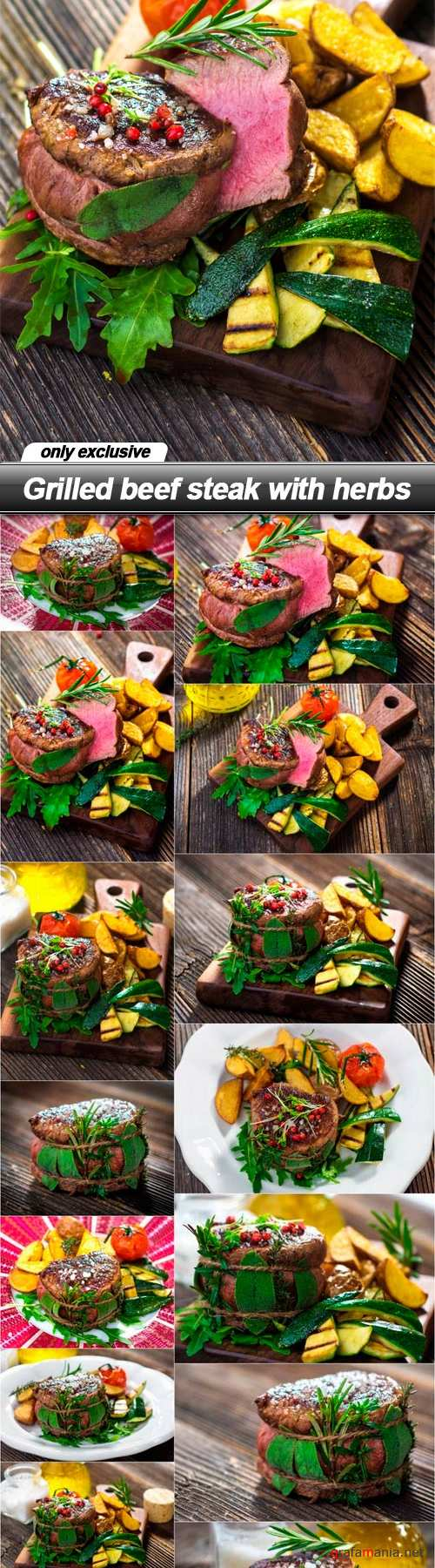 Grilled beef steak with herbs - 15 UHQ JPEG