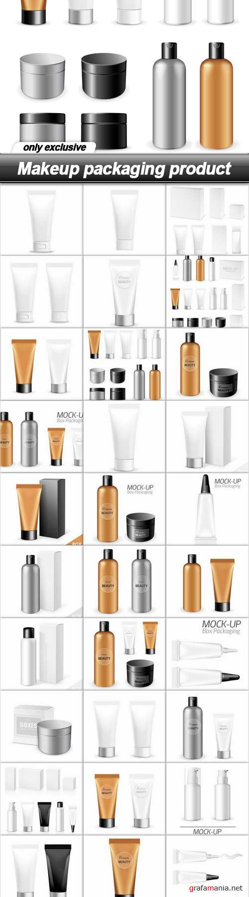 Makeup packaging product - 33 EPS