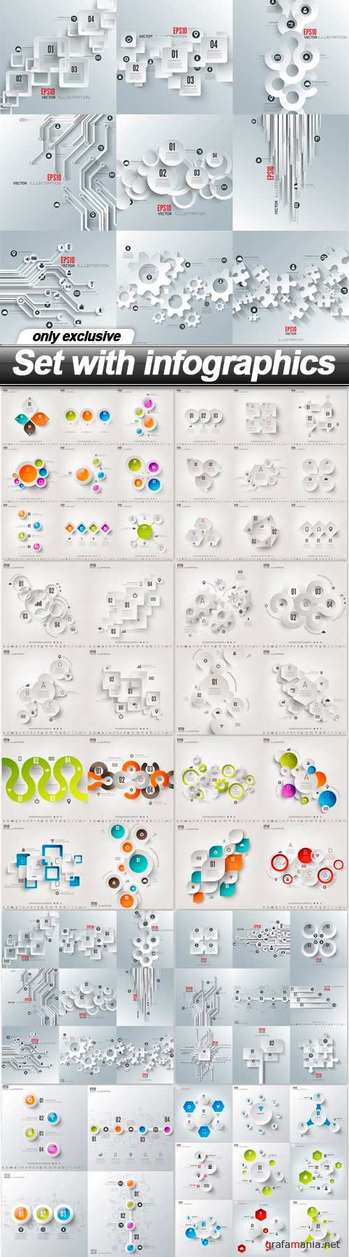 Set with infographics - 10 EPS