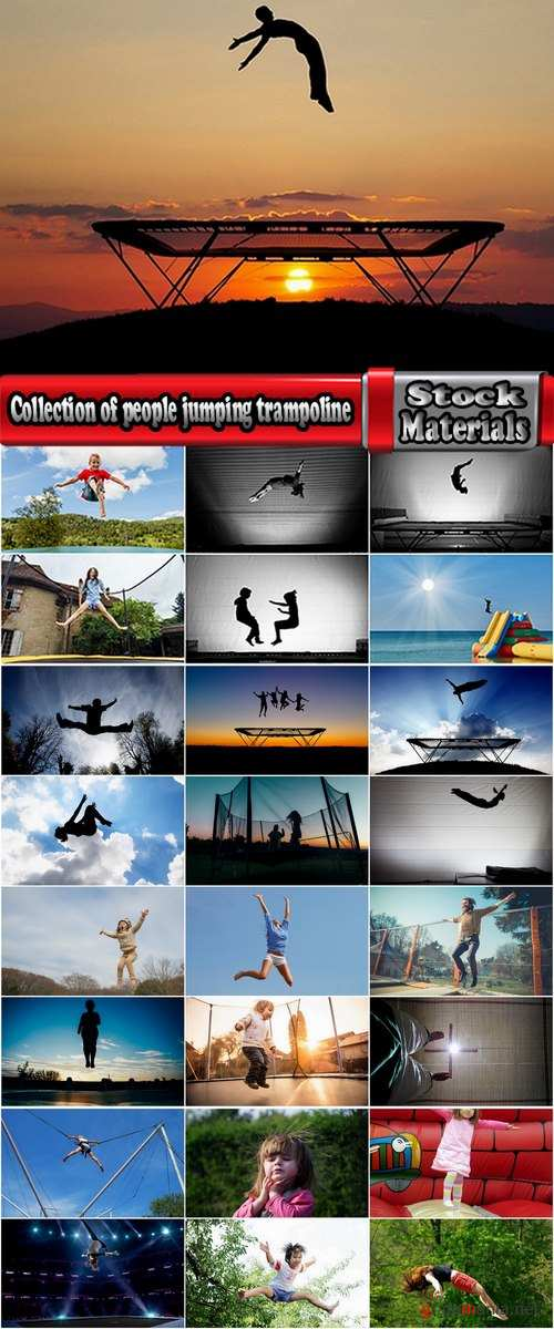 Collection of people jumping trampoline jump stunt 25 HQ Jpeg