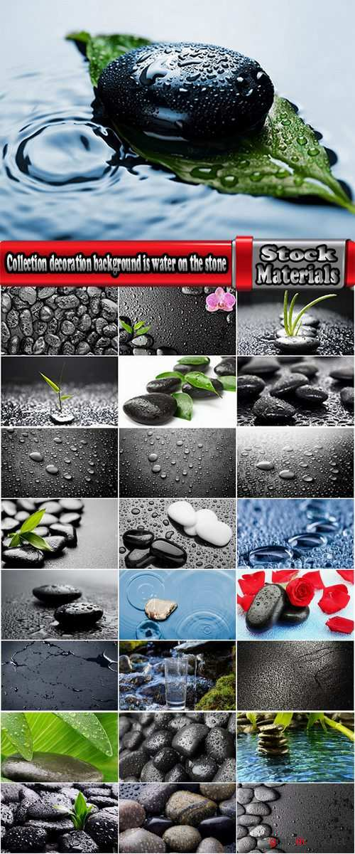 Collection decoration background is water on the stone drop 25 HQ Jpeg