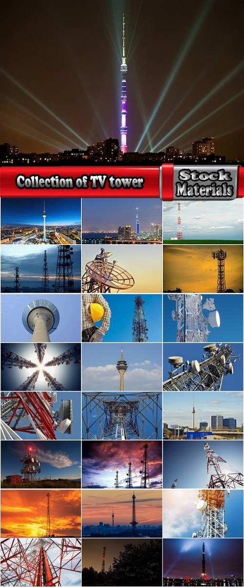 Collection of TV tower communication tower 25 HQ Jpeg