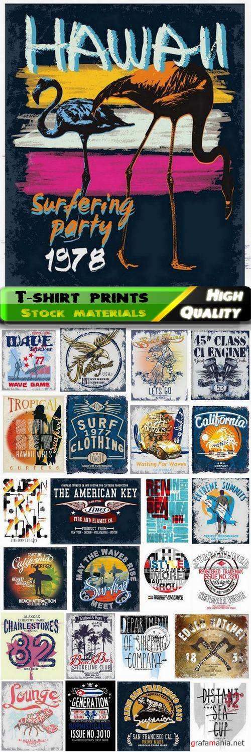 T-shirt prints design in vector from stock #81 - 25 Eps