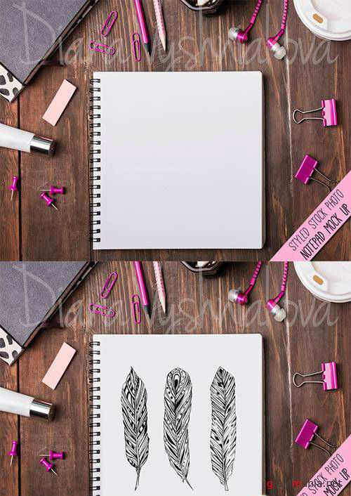 PSD - Mock up with notepad 562196