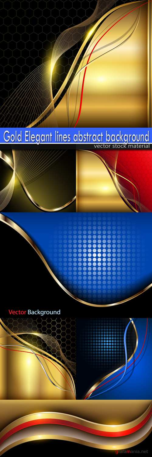 Gold Elegant lines abstract background