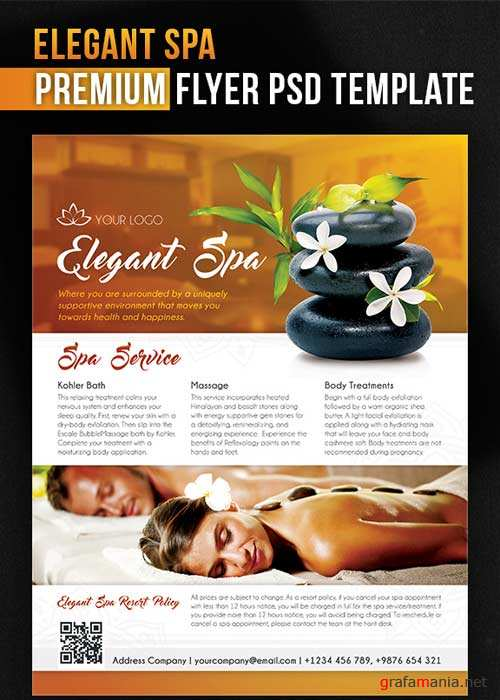 Elegant Spa Flyer PSD Template + Facebook Cover