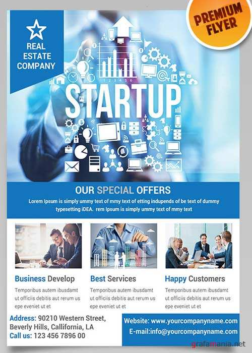 Business Promotion Flyer PSD Template + Facebook Cover