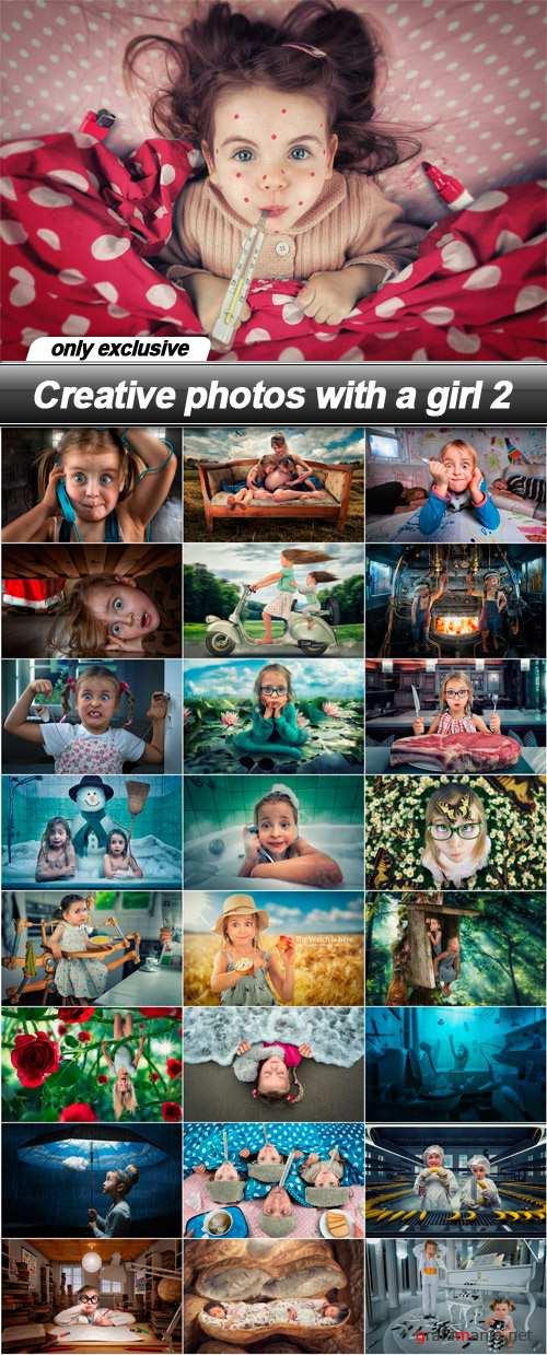 Creative photos with a girl 2 - 25 UHQ JPEG