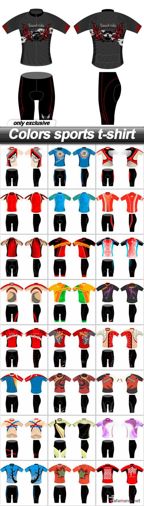 Colors sports t-shirt - 25 EPS