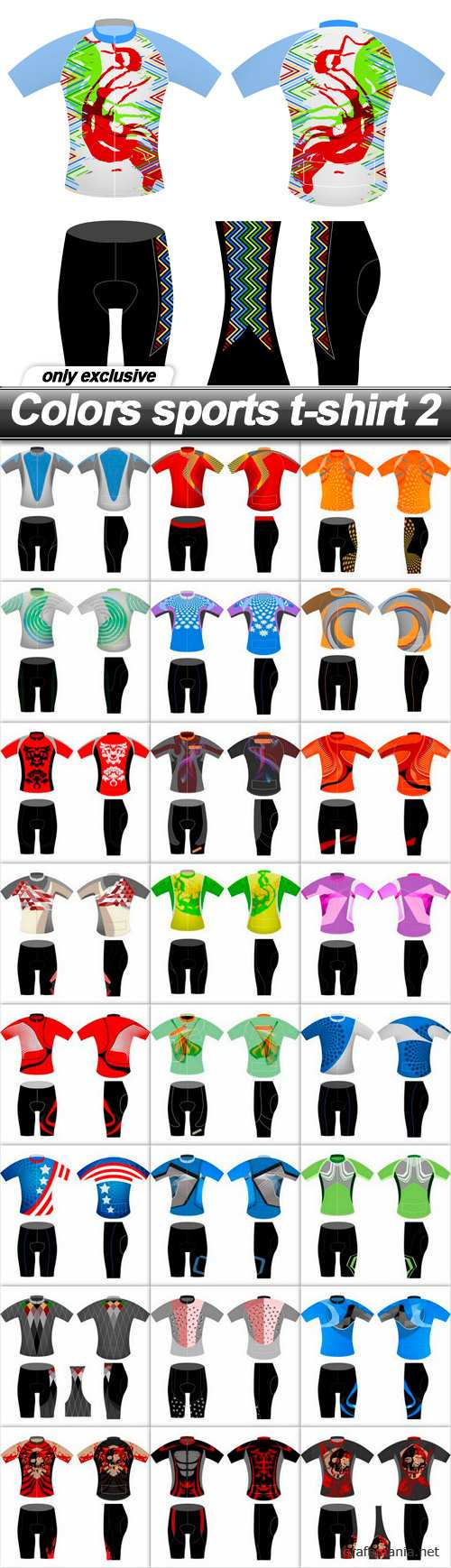 Colors sports t-shirt 2 - 25 EPS